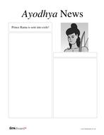 Newspaper Template: Rama's Exile - Diwali KS2