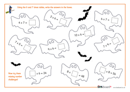 6 and 7 times tables spooky maths worksheet halloween ks1ks2 by 6 and 7 times tables spooky maths worksheet halloween ks1ks2 ibookread Read Online