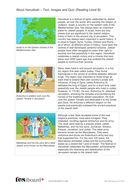 Hanukkah Text, Images and Quiz - Reading Level B - Hanukkah KS2