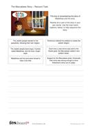 The Maccabees - Story Recount Activity - Hanukkah KS1