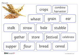 Harvest Vocabulary Mat - Creative Writing - Harvest KS1