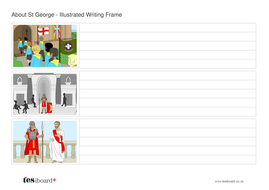 About St George Writing Frame - St George's Day KS2