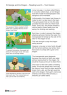 St George and the Dragon Text and Images - Reading Level A - KS1 Literacy