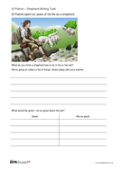 Shepherd Writing Task -  St Patrick's Day KS1