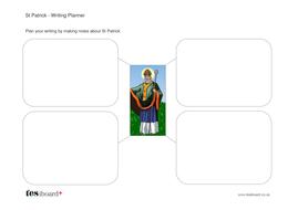 St Patrick Writing Planner Worksheet -  St Patrick's Day KS1