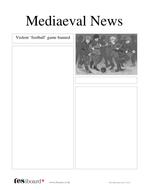 Newspaper Template: Mob Football - History of Football KS1