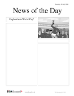 Newspaper Template: World Cup 1966 - History of Football KS1