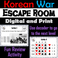 Korean War: Escape Room - Social Studies