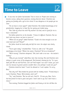 Time to Leave - Text and Questions Exercise - Year 6 Reading Comprehension (Fiction)