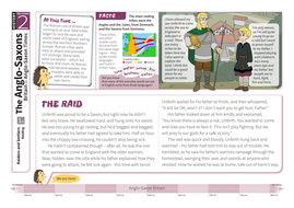 Raiding - Comprehension Worksheet - Anglo-Saxon Britain KS2