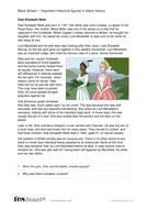 Dido Elizabeth Belle - Profile and Writing Task - Black History in Britain KS2