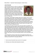 James Somersett - Profile and Writing Task - Black History in Britain KS2