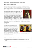 Tudor Court - Profile and Writing Task - Black History in Britain KS2