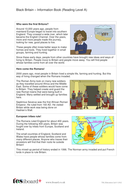 Black History in Britain Information Text and Images - Reading Level A - KS2