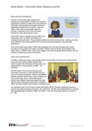 Comprehension Text and Question Worksheet (Reading Level B) - Black History in Britain KS2