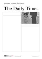 Newspaper Template: Bus Boycott - Martin Luther King Jr. KS2