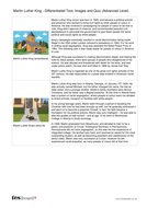 Comprehension Text and Question Worksheet (Reading Level C) - Martin Luther King Jr. KS2