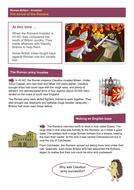 The Arrival of Romans - Worksheet - Roman Britain KS2