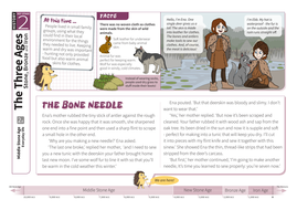 The Middle Stone Age: Everyday Life - Comprehension Worksheet - The Stone Age KS2