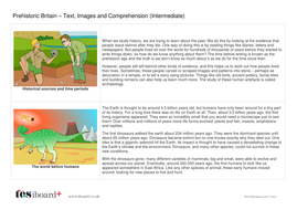 Comprehension Text and Question Worksheet (Reading Level C) - About Prehistoric Britain KS2