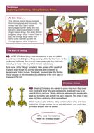 Raids on Britain - Worksheet - The Vikings KS2