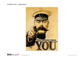 A Soldier's Life Image Library - The World Wars KS2
