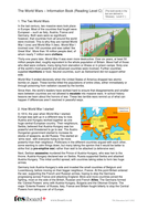 The World Wars Information Text and Images - Reading Level C - KS2