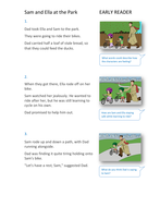 At the Park Storybook - Early Reader Level - PSHE KS1