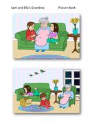 Sam and Ella's Grandma Picture Bank - PSHE KS1