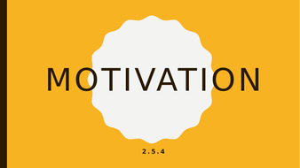 GCSE 9-1 Business 2 5 4 Motivation by sammiwest | Teaching