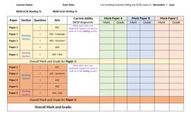 gcse english progress tracker by vanessaalicianelson teaching