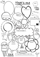 All about me That's me - student presentation / introduction, worksheet,  GCSE, all subjects!