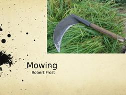 mowing robert frost