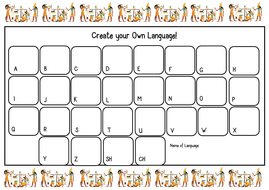 Ancient Egypt Hieroglyphics Worksheet (Create your own language!)