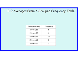 grouped frequency