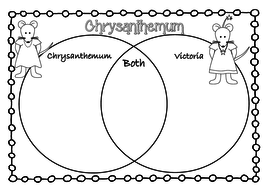 CHRYSANTHEMUM book and name activity pack for back to