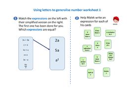 Using-letters-to-generalise-numbers-worksheet-1.pdf