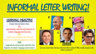 Informal Letter Writing!