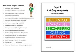 Spanish L&R exam revision (Alevel) by shara_nuku | Teaching