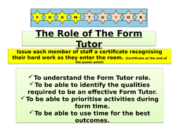 Role-of-The-Form-Tutor-Power-Point.pptx