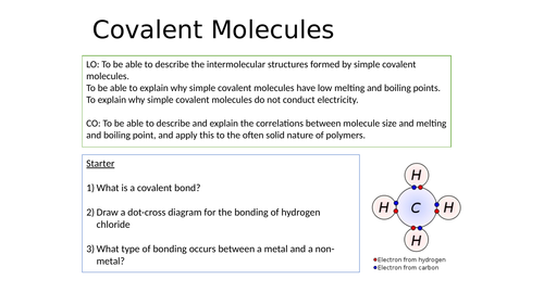 KS4 Covalent Molecules - Simple, Giant and Polymer