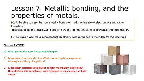 KS4 Metallic Bonding and Properties of metals
