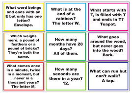 Riddle Me This     99 Tutor Time Beginner Riddles & Brainteasers