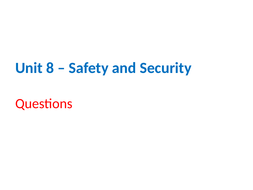 IGCSE Cambridge ICT – Section 8 – Safety and Security