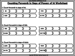 Counting Forwards or Backwards in Powers of 10 by ...
