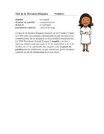 Hispanic Heritage Month Reading: Mes de la Herencia Hispana Lectura (BILINGUAL)