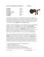Grito de Dolores y Día de la Independencia Mexicana: Mexican Independence Day