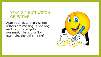 Year 2 SPaG PPT and Assessment: Apostrophes