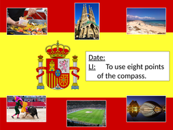 Using-8-points-of-a-compass-to-locate-places-in-Spain.pptx