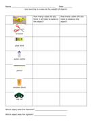 worksheet measuring weight of classroom objects using balance scales and non standard units by. Black Bedroom Furniture Sets. Home Design Ideas